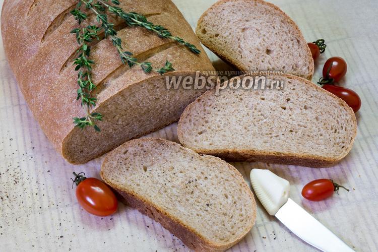 Фото Домашний хлеб с цельнозерновой мукой
