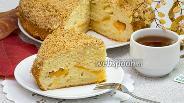 Фото рецепта Пирог с консервированными персиками