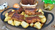 Фото рецепта Свиные рёбра с картошкой
