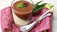 Фото рецепта Панна-котта с шоколадом и сгущённым молоком