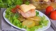 Фото рецепта Картофель с курицей под сырной шапочкой