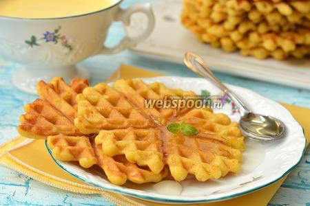 Кукурузно-апельсиновые вафли