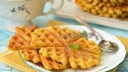 Фото рецепта Кукурузно-апельсиновые вафли