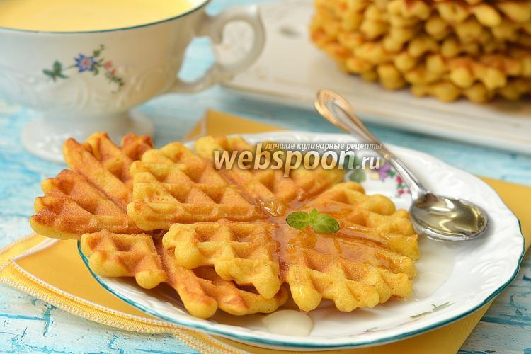 Фото Кукурузно-апельсиновые вафли
