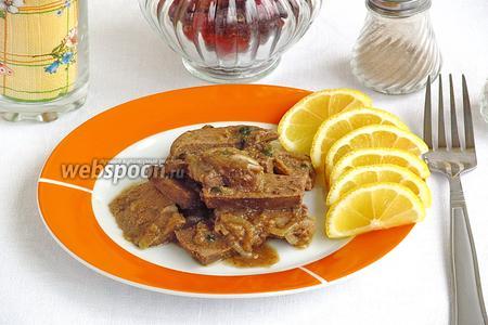 Печень в пряном соусе в микроволновке