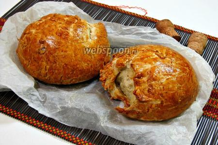 Фото рецепта Овернский хлеб со шкварками