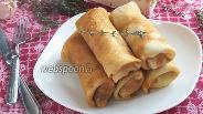 Фото рецепта Блинчики с капустой и копчёной грудинкой