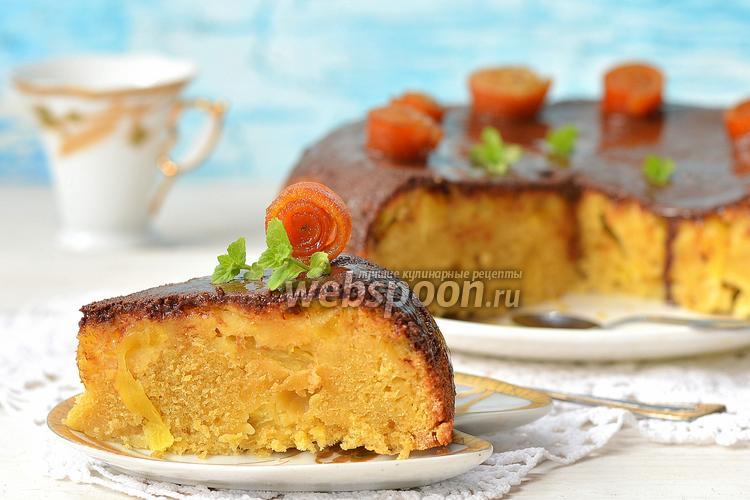 Фото Кукурузно-ананасовый пирог в мультиварке