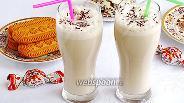 Фото рецепта Молочно-кофейный коктейль с мороженым и мёдом