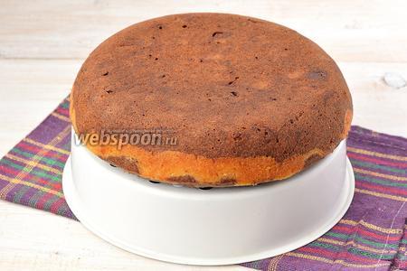 Вытянуть пирог с помощью чаши для варки на пару. Охладить. Пирог готов.