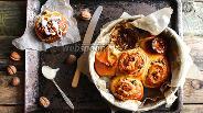 Фото рецепта Булочки  с орехами и сгущёнкой