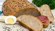 Фото рецепта Цельнозерновой хлеб со льном и кунжутом