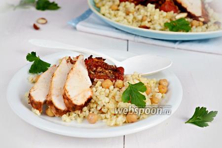 Фото рецепта Салат с булгуром и курицей