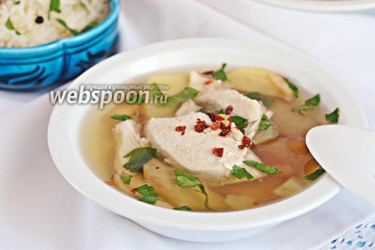 Фото Картофельный суп с курицей