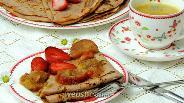 Фото рецепта Клубничный «омлет» с ревенем