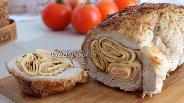 Фото рецепта Мясной рулет с блинами