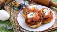 Фото рецепта Картофельные оладьи с копчёным лососем