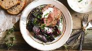 Фото рецепта Запечённая говядина с карамелизированной свёклой