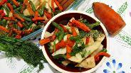 Фото рецепта Запечённый корень сельдерея с морковью и стручковой фасолью