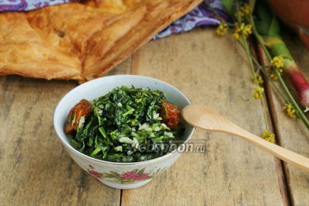 Суйуг — мальва с рисом по-азербайджански