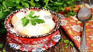 Фото рецепта Запечённые пельмени под йогуртовым соусом