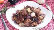 Фото рецепта Телятина с бальзамическим луком, чесноком и тимьяном