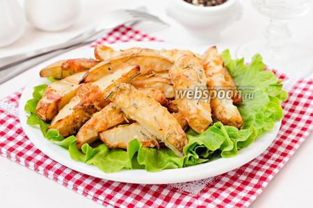 Запечённый картофель с розмарином и пармезаном