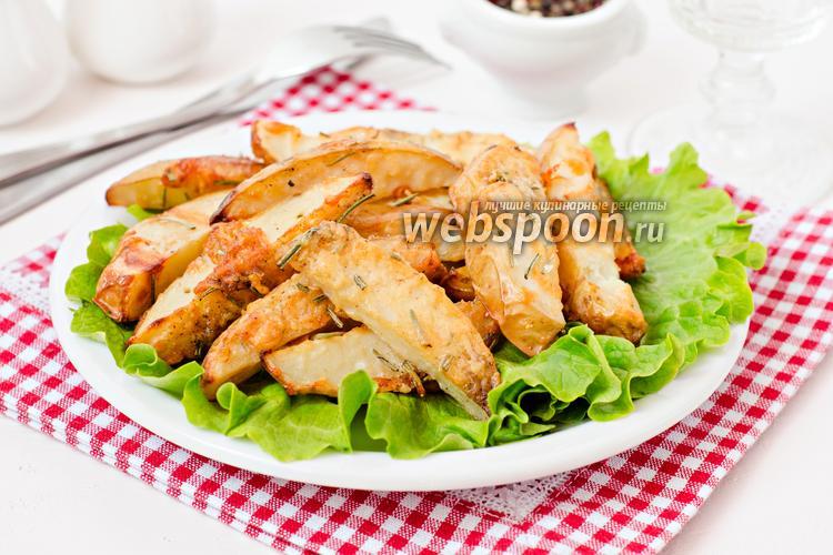 Фото Запечённый картофель с розмарином и пармезаном