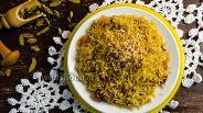 Фото рецепта Шафрановый рис с изюмом и миндалём