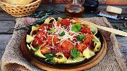 Фото рецепта Паста с мясными шариками в томатном соусе