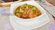 Фото рецепта Суп со свиными рёбрышками