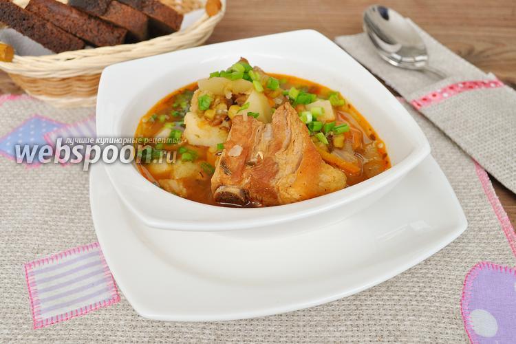 Фото Суп со свиными рёбрышками
