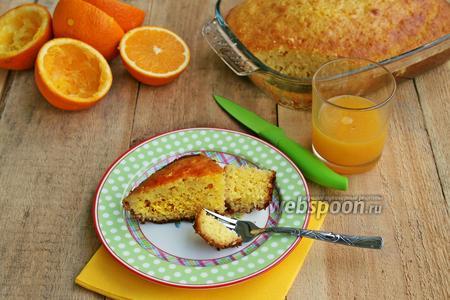 Влажный апельсиновый кекс
