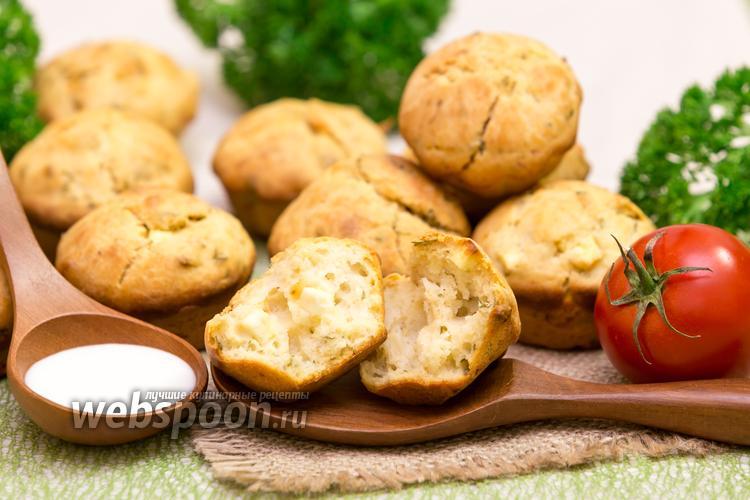 Фото Кексы с сыром Фета и петрушкой
