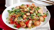 Фото рецепта Сёмга жареная с перцем и луком