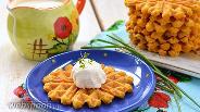 Фото рецепта Морковно-яблочные вафли