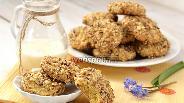 Фото рецепта Кукурузно-ореховое печенье с изюмом