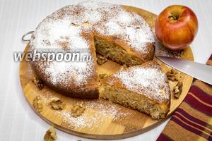 Медовый яблочно-ореховый пирог