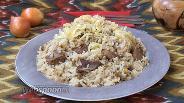 Фото рецепта Рисовая каша с машем и телятиной