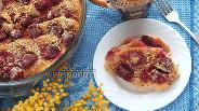 Фото рецепта Хлебный пудинг с вишней
