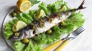 Фото рецепта Скумбрия запечённая с оливками