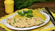 Фото рецепта Куриные колбаски с гарниром из риса в мультиварке