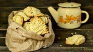 Фото рецепта Печенье Хризантема через мясорубку