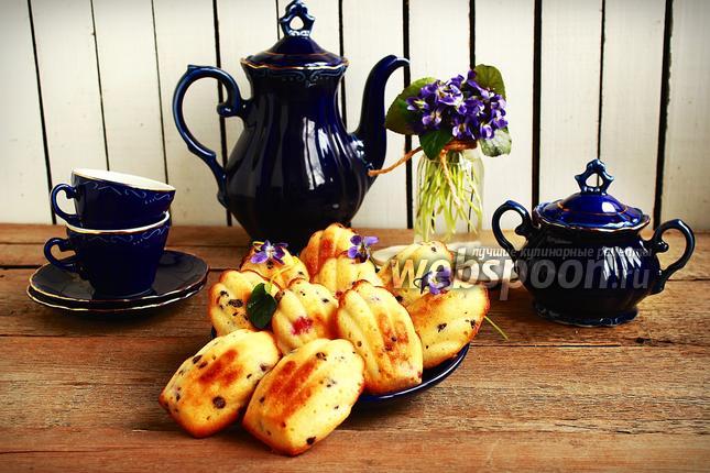 Фото «Мадлен» с шоколадными каплями и клюквой
