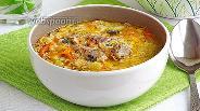 Фото рецепта Сырный суп с рыбными консервами