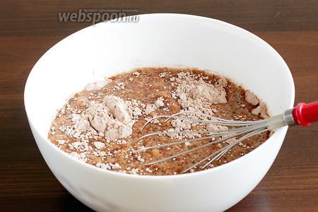 Соединить сухую и влажную смеси.