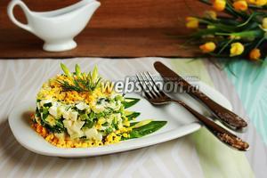 Салат из черемши с нежным соусом