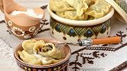 Фото рецепта Вареники со свежей капустой и лесными грибами