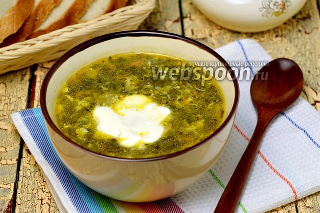 Фото Суп из консервированного щавеля в мультиварке