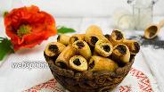 Фото рецепта Творожное печенье с маковой начинкой